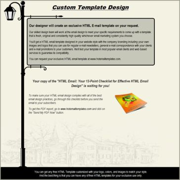 Email Template: Lamppost