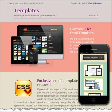 Email Template: Colored stripes