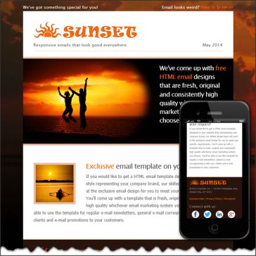 Email Template: Sunset