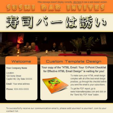 Email Template: Sushi Bar