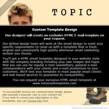 Email Template: Topic