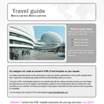 Email Template: Travel guide