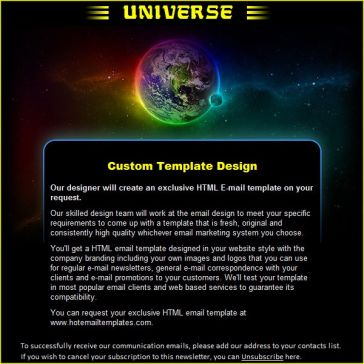 Email Template: Universe