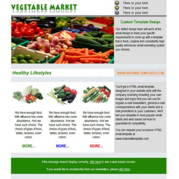 Email Template: Vegetable Market