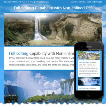 Email Template: Waterfall