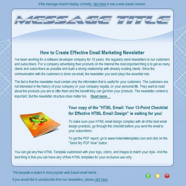 Email Template: Wave