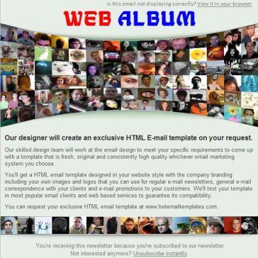 Email Template: Web Album
