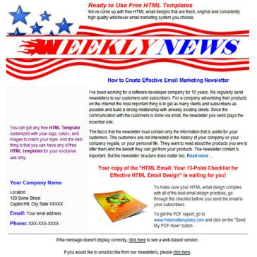Email Template: Weekly News