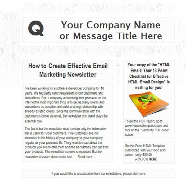 Email Template: White Minimalism