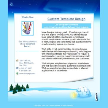 Email Template: Winter holiday