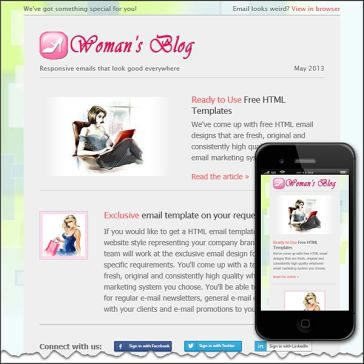 Email Template: Woman's Blog