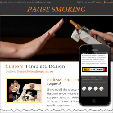 Email Template: World notobacco day