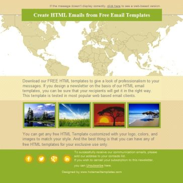 Email Template: World maps