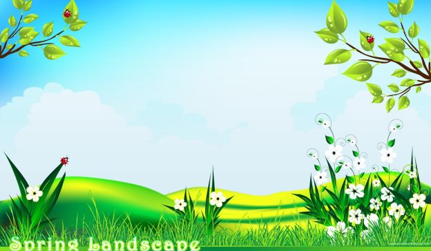 Email Template: Spring landscape